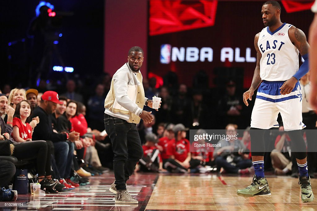 09da248c556 Kevin Hart will lose his drink to LeBron James who passes it onto ...