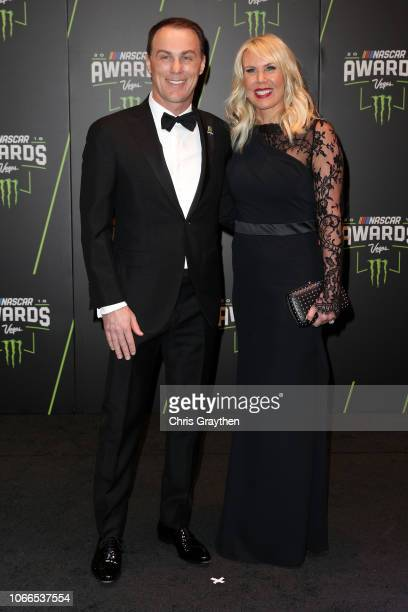 Kevin Harvick and his wife DeLana attend the Monster Energy NASCAR Cup Series Awards Celebration at the Wynn Las Vegas on November 29 2018 in Las...