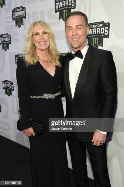Kevin Harvick and his wife Delana attend the Monster Energy NASCAR Cup Series Awards at Music City Center on December 05, 2019 in Nashville,...