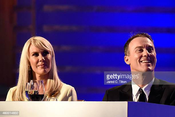 Kevin Harvick and his wife DeLana Harvick attend the 2014 NASCAR Sprint Cup Series Awards at Wynn Las Vegas on December 5, 2014 in Las Vegas, Nevada.