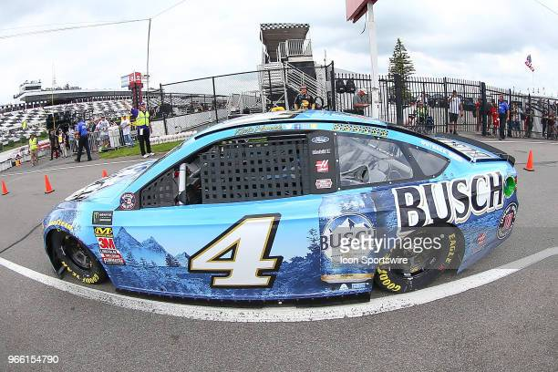 Kevin Harvick Busch Beer Ford during practice for the Monster Energy NASCAR Cup Series Pocono 400 on June 2 at Pocono Raceway in Long Pond PA