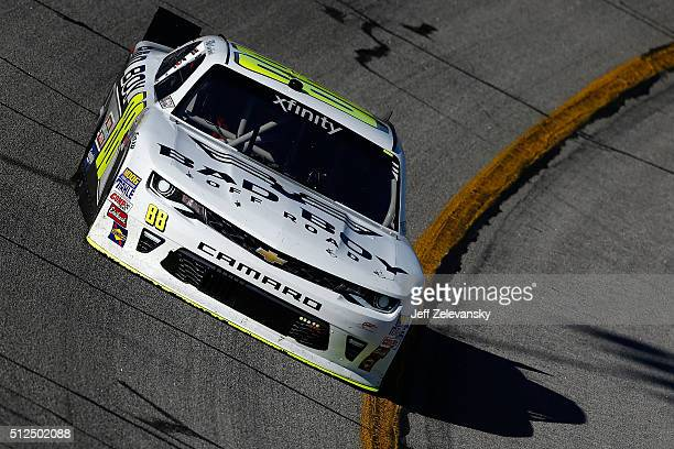 Kevin Harvick driver of the Bad Boy Off Road Chevrolet practices for the NASCAR XFINITY Series Heads Up Georgia 250 at Atlanta Motor Speedway on...
