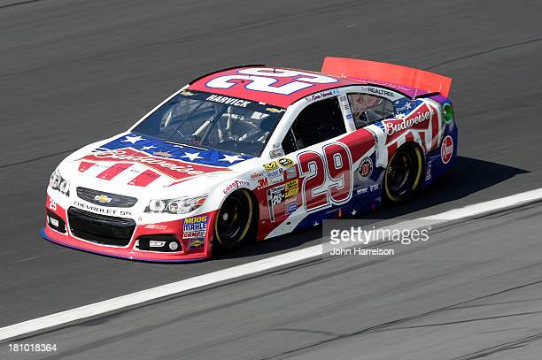 Kevin Harvick driver of the Budweiser Folds of Honor Chevrolet during practice for the NASCAR Sprint Cup Series CocaCola 600 at Charlotte Motor...