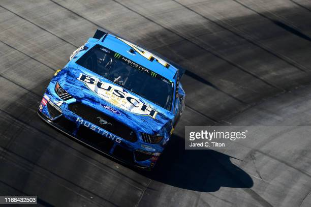 Kevin Harvick driver of the Busch Beer Ford practices for the Monster Energy NASCAR Cup Series Bass Pro Shops NRA Night Race at Bristol Motor...