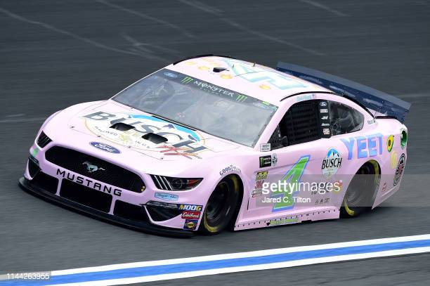 Kevin Harvick driver of the Busch Beer Millennial Car Ford practices for the Monster Energy NASCAR Cup Series AllStar Race and the Monster Energy...
