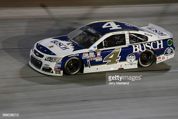 Kevin Harvick driver of the Busch Chevrolet races during the NASCAR Sprint Cup Series Bojangles' Southern 500 at Darlington Raceway on September 4...