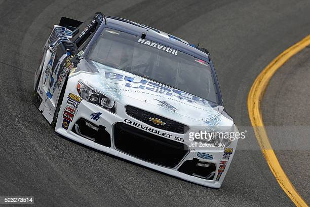 Kevin Harvick driver of the Busch Light Chevrolet practices for the NASCAR Sprint Cup Series TOYOTA OWNERS 400 at Richmond International Raceway on...