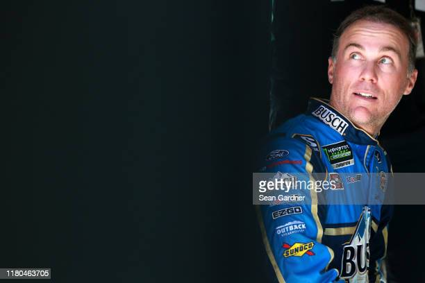 Kevin Harvick driver of the Busch Light Ford looks on during practice for the Monster Energy NASCAR Cup Series 1000Bulbscom 500 at Talladega...