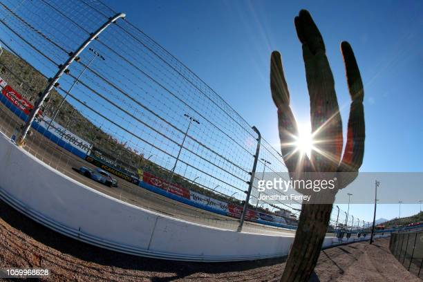Kevin Harvick driver of the Busch Light Ford practices for the Monster Energy NASCAR Cup Series CanAm 500 at ISM Raceway on November 10 2018 in...