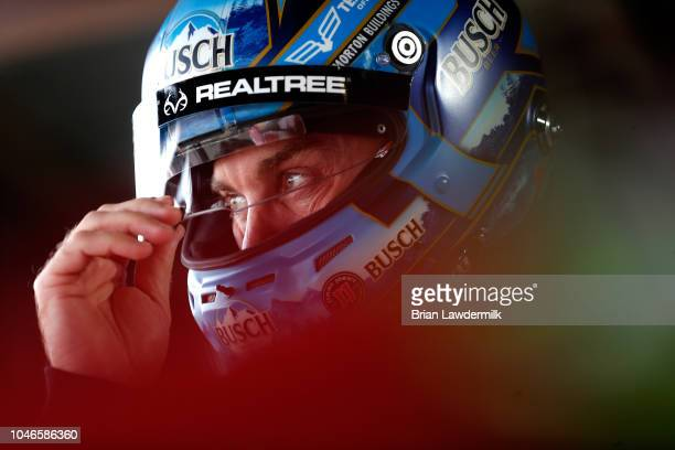 Kevin Harvick driver of the Busch Outdoors Ford prepares to practice for the Monster Energy NASCAR Cup Series Gander Outdoors 400 at Dover...