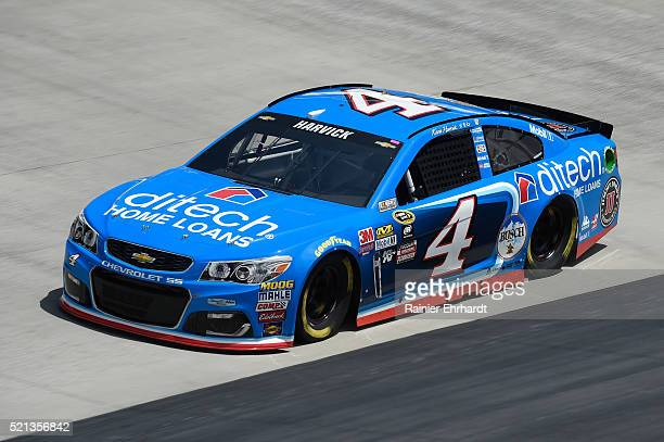 Kevin Harvick driver of the ditech Chevrolet practices for the NASCAR Sprint Cup Series Food City 500 at Bristol Motor Speedway on April 14 2016 in...