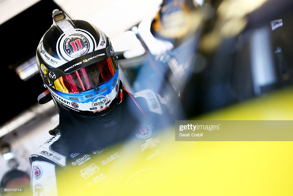 Kevin Harvick, driver of the #4 Jimmy John's Chevrolet, walks through the garage area during practice for the NASCAR Sprint Cup Series Can-Am 500 at Phoenix International Raceway on November 11, 2016 in Avondale, Arizona.