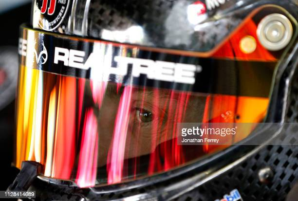 Kevin Harvick driver of the Jimmy John's Ford during practice for the Monster Energy NASCAR Cup Series Pennzoil 400 at Las Vegas Motor Speedway on...