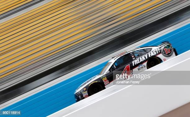 Kevin Harvick driver of the Jimmy John's Ford practices for the Monster Energy NASCAR Cup Series TicketGuardian 500 at ISM Raceway on March 10 2018...