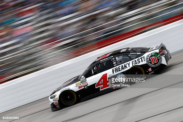 Kevin Harvick driver of the Jimmy John's Ford races during the Monster Energy NASCAR Cup Series Folds Of Honor QuikTrip 500 at Atlanta Motor Speedway...