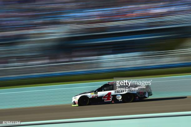 Kevin Harvick driver of the Jimmy John's Ford races during the Monster Energy NASCAR Cup Series Championship Ford EcoBoost 400 at HomesteadMiami...