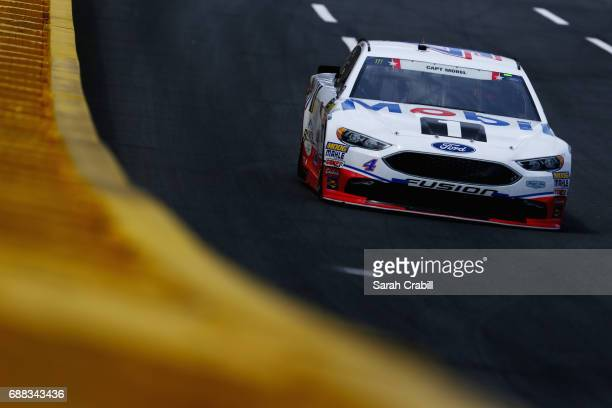 Kevin Harvick driver of the Mobil 1 Ford practices for the Monster Energy NASCAR Cup Series CocaCola 600 at Charlotte Motor Speedway on May 25 2017...