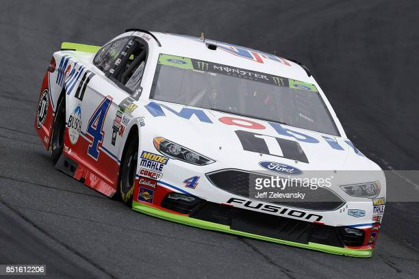 Kevin Harvick driver of the Mobil 1 Ford practices for the Monster Energy NASCAR Cup Series ISM Connect 300 at New Hampshire Motor Speedway on...
