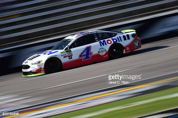 Kevin Harvick driver of the Mobil 1 Ford practices for the Monster Energy NASCAR Cup Series AAA Texas 500 at Texas Motor Speedway on November 4 2017...