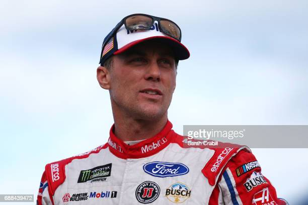 Kevin Harvick driver of the Mobil 1 Ford stands on the grid during qualifying for the Monster Energy NASCAR Cup Series CocaCola 600 at Charlotte...