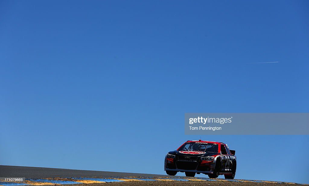 Kevin Harvick, driver of the #29 Rheem Chevrolet, drives during practice for the NASCAR Sprint Cup Series Toyota/Save Mart 350 at Sonoma Raceway on June 21, 2013 in Sonoma, California.