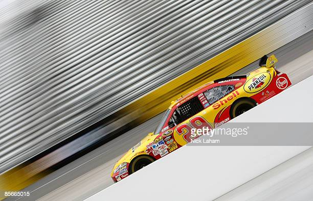 Kevin Harvick driver of the Shell/Pennzoil Chevrolet drives during practice for the NASCAR Sprint Cup Series Goody�s Fast Pain Relief 500 at the...