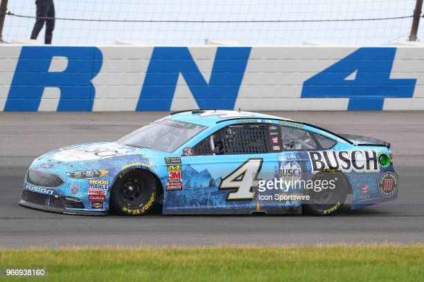 Kevin Harvick in the Busch Beer Ford drives during the Monster Energy NASCAR Cup Series Pocono 400 on June 3 2018 at Pocono Raceway in Long Pond PA