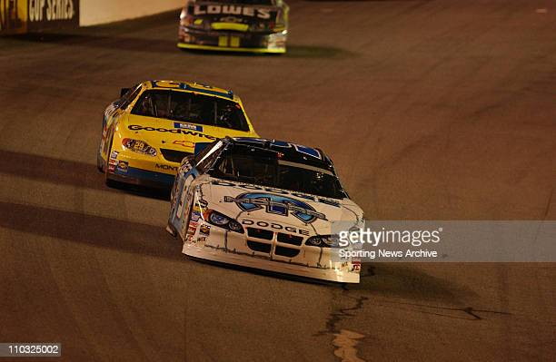 NASCAR Kevin Harvick Kasey Kahne during the Nextel cup UAWGM Quality 500 at Lowe's Motor Speedway in Concord NC on Oct 16 2004