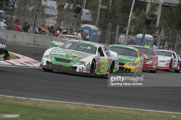 Kevin Harvick, Ron Hornaday during the Telcel Motorola Mexico 200 Busch Series race at the Autodromo Hermanos Rodriguez race track in Mexico City,...