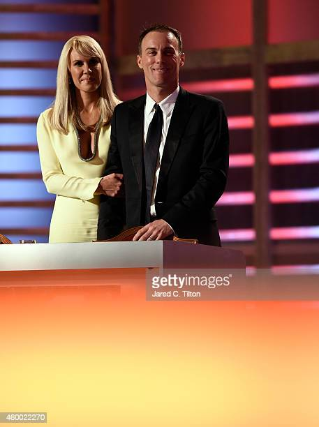 Kevin Harvick stands with his wife DeLana Harvick during the 2014 NASCAR Sprint Cup Series Awards at Wynn Las Vegas on December 5, 2014 in Las Vegas,...