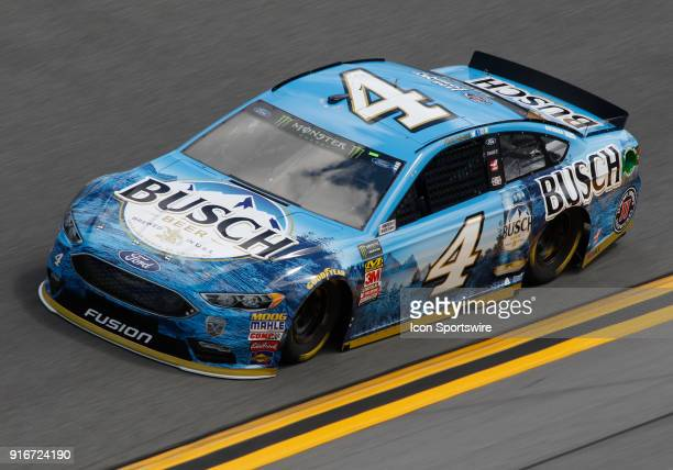 Kevin Harvick StewartHaas Racing Busch Beer Ford Fusion during practice for the Advance Auto Parts Clash at Daytona on Saturday February 10 at...