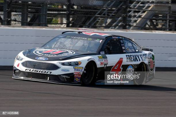 Kevin Harvick StewartHaas Racing Ford Fusion during the NASCAR Monster Energy Cup Series Brantley Gilbert Big Machine Brickyard 400 July 23 at the...