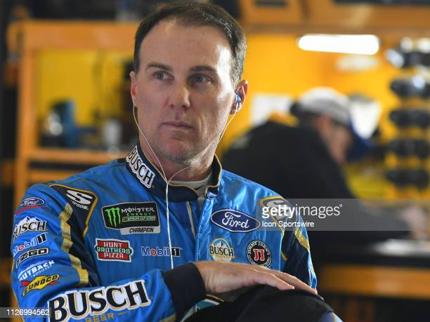 Kevin Harvick, Stewart-Haas Racing, Ford Mustang Busch Beer during practice for the Monster Energy Cup Series QuikTrip Folds of Honor 500 on February...