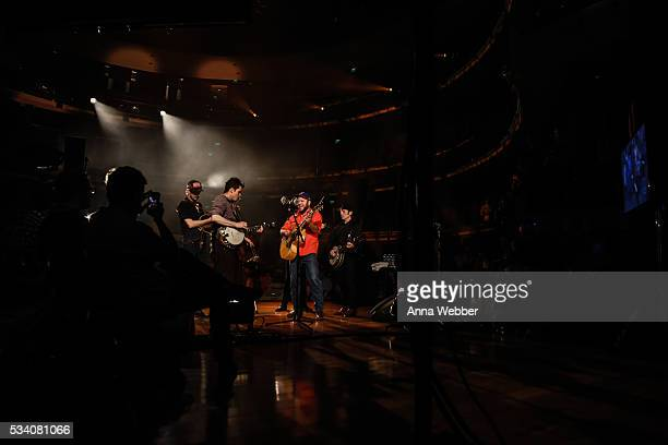 Kevin Hayes Cory Younts Ketch Secor Gill Landry Critter Fuqua Chance McCoy and Morgan Jahnig of Old Crow Medicine Show perform during Old Crow...