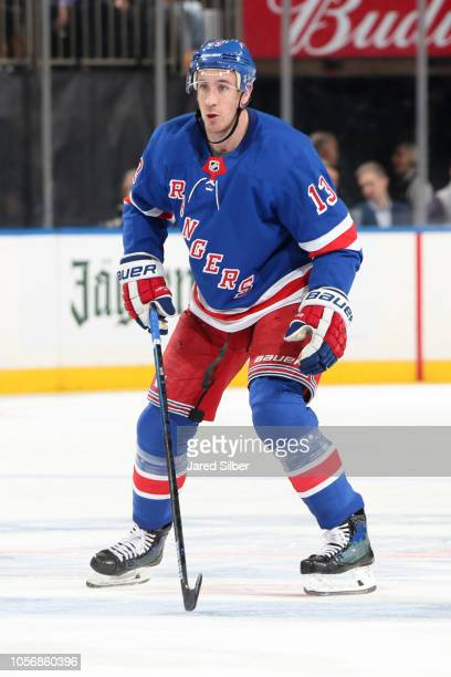 Kevin Hayes of the New York Rangers skates against the Colorado Avalanche at Madison Square Garden on October 16 2018 in New York City The New York...