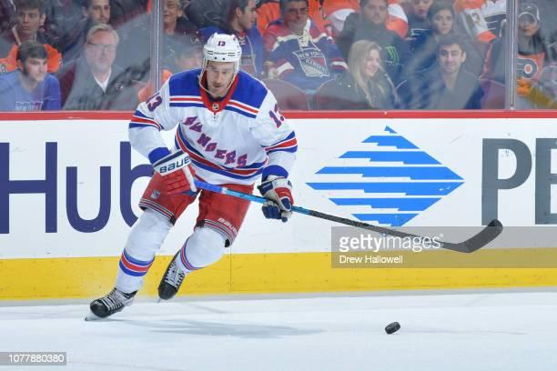 Kevin Hayes of the New York Rangers skates against the Philadelphia Flyers at Wells Fargo Center on November 23 2018 in Philadelphia Pennsylvania
