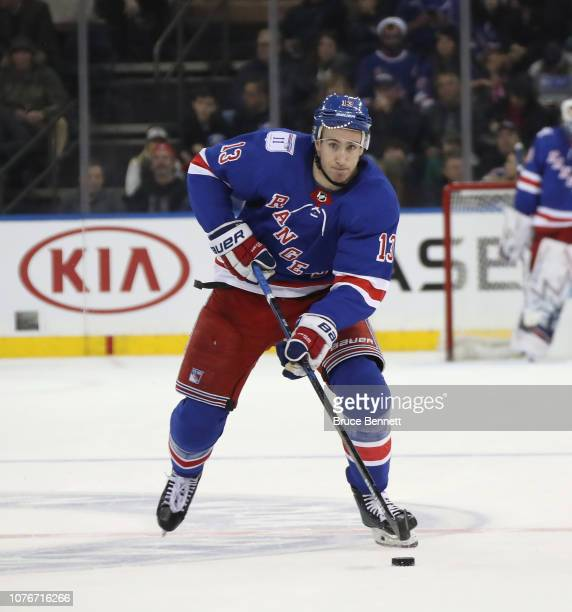 Kevin Hayes of the New York Rangers skates against the Winnipeg Jets at Madison Square Garden on December 02 2018 in New York City The Jets defeated...
