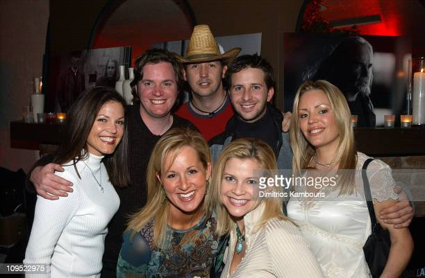Kevin Hearn from The Barenaked Ladies Harland Williams Matt Mazzant and guests at the Chrysler Lounge in Park City Utah at the Chrysler Million...