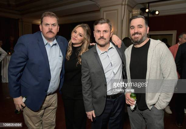 Kevin Heffernan Hassie Harrison Steve Lemme and Brian Q Quinn attend the truTV Happy Hour at The Langham Huntington Hotel and Spa on February 11 2019...