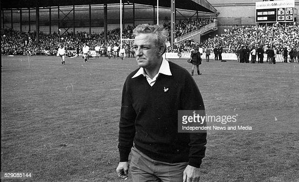 Kevin Heffernan the Dublin Manager during the 1974 All-Ireland Football Final agaisnst Galway at Croke Park, ...