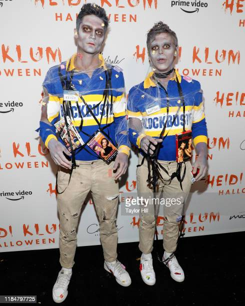 Kevin Herrington and Antoni Porowski attend Heidi Klum's Annual Hallowe'en Party at Cathedrale on October 31 2019 in New York City