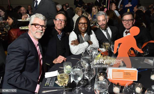 Kevin Hertzog Whoopi Goldberg Harold Streitman Tom Leonardis and James LaForce attend Bailey House Gala Auction 2018 at Pier 60 Chelsea Piers on...