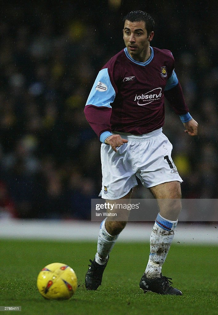 Kevin Horlock of West Ham United in action during the Nationwide Division One match between Watford and West Ham United on November 22, 2003 at Vicarage Road in Watford, England. The match ended in a 0-0 draw.