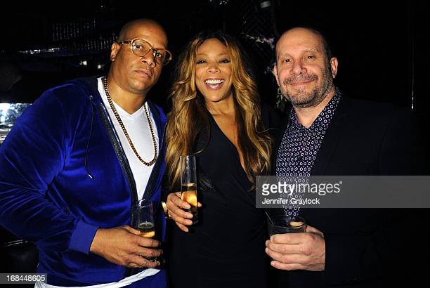 Kevin Hunter and Wendy Williams attend the Wendy Williams Debuts Ask Wendy By Harper Collins Book Release Party at The Pink Elephant on May 9 2013 in...