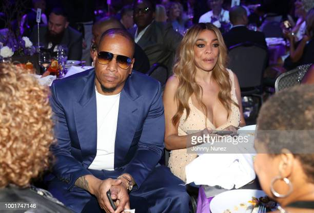 Kevin Hunter and Wendy Williams attend the Wendy Williams Hunter Birthday Give Back Gala at Hammerstein Ballroom on July 18 2018 in New York City