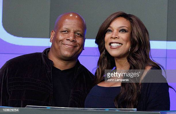 Kevin Hunter and Wendy Williams rings the opening bell at the NASDAQ MarketSite on August 25 2010 in New York City