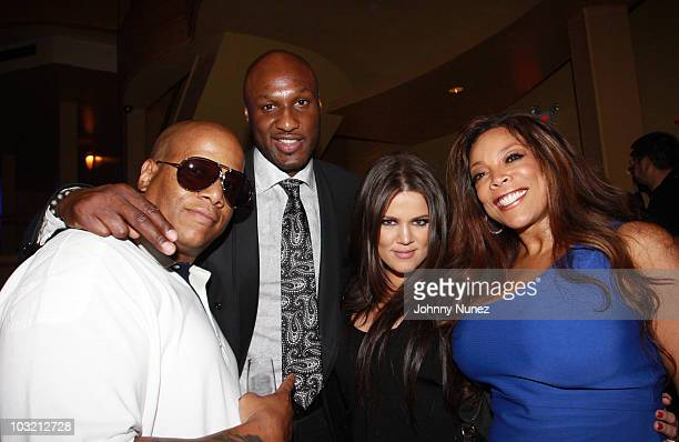 Kevin Hunter NFL player Lamar Odom TV personality Khloe Kardashian Odom and TV and radio personality Wendy Williams attend the Casio Shock the World...