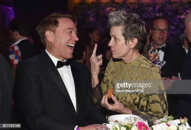 Kevin Huvane and Frances McDormand attend the 2018 Vanity Fair Oscar Party hosted by Radhika Jones at Wallis Annenberg Center for the Performing Arts...