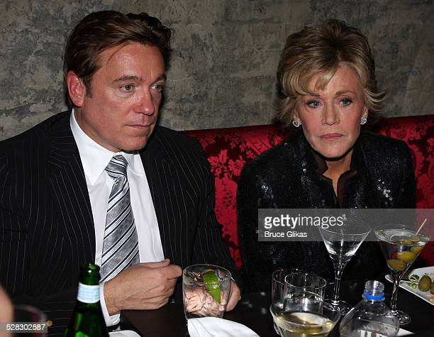 Kevin Huvane and Jane Fonda attend the after party for opening night of 33 Variations at Buddakan on March 9 2009 in New York City