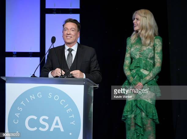 Kevin Huvane and Nicole Kidman attend the Casting Society Of America's 33rd Annual Artios Awards at The Beverly Hilton Hotel on January 18 2018 in...